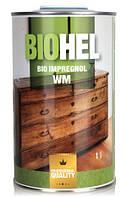 Масло-воск для защиты деревянных изделий BIOHEL IMPREGNOL WM (Хелиос) 1 л. Сосна, фото 1