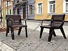 Лавка садово-парковая (стул уличный) со спинкой URBAN 6, фото 2