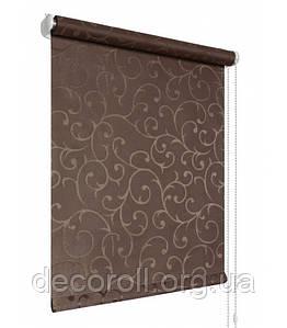 """Рулонные шторы на окна """"Акант"""" из ткани польского производства  - цена от 0.5 кв.м шоколадный"""