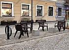 Лавка садово-парковая (стул уличный) со спинкой URBAN 6, фото 3