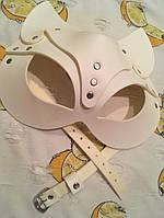 Женская портупея на лицо, маска кошки белая арт.930804