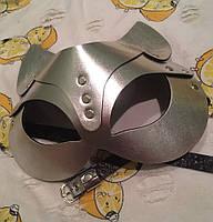 Женская портупея на лицо, маска кошки серебро арт.930805