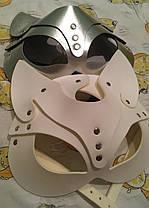 Женская портупея на лицо, маска кошки золото арт.930806, фото 3