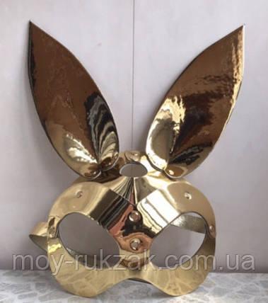 Женская портупея на лицо, маска кролика золото арт.930810, фото 2
