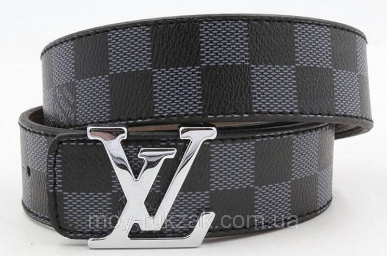 Ремень мужской кожаный Louis Vuitton ширина 40 мм. реплика арт.930834