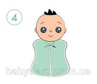 Инструкция по пеленанию ребенка в пеленку кокон на молнии - шаг 4