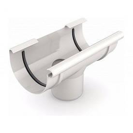 Воронка желоба для водосточной системы (проходная) белая (130 мм)