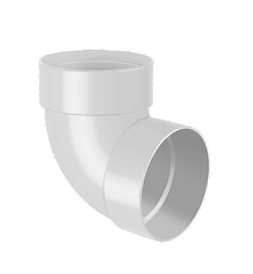 Отвод двухмуфтовый для водосточной системы белый 75 мм (67°)