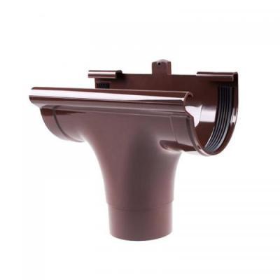 Воронка для водосточной системы (проходная) коричневая (130 мм)