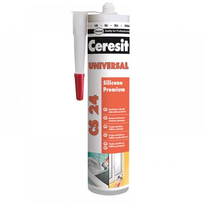 Герметик силиконовый универсальный CERESIT CS-24  прозрачный (280 мл)