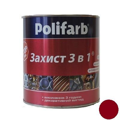 Эмаль Защита 3 в 1 красно-коричневый (0,9 кг)