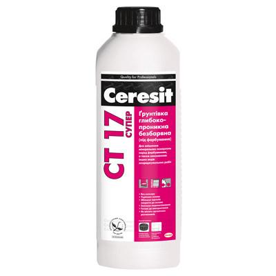 Грунтовка глубокопроникающая прозрачная CERESIT CT-17 Супер (Ceresit CT-17) (2 л)