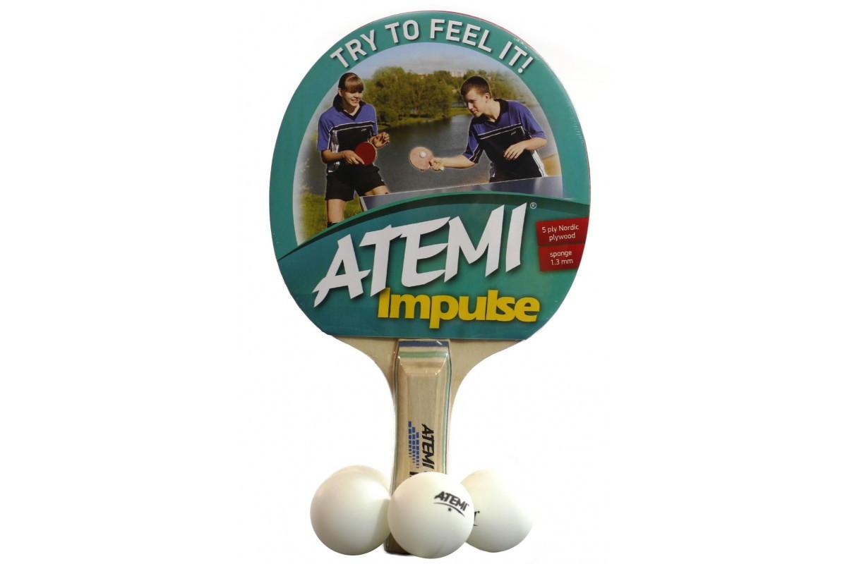 Набір ракетка для настільного тенісу ATEMI IMPULSE та 4 кульки ... 6ca7691937040