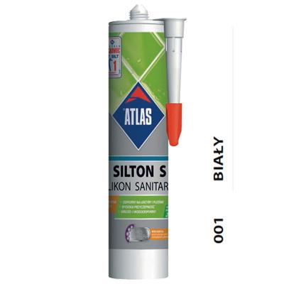 Герметик силіконовий білий Atlas Silton S-001 (Атлас Силтон З)(280 мл)