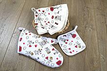 Кухонний набір Love is рукавиця+прихватки+рушник