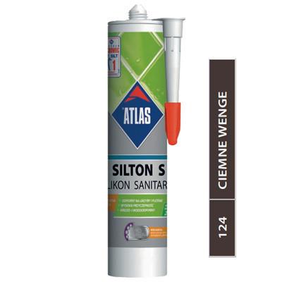 Герметик силиконовый темный венге Atlas Silton S-124 (Атлас Силтон С) (280 мл)