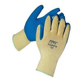 Перчатки ПВХ цветные с точкой