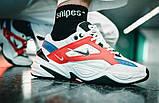 Мужские кроссовки в стиле  найк M2K Tekno white & red & Blue, фото 5