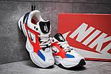 Мужские кроссовки в стиле  найк M2K Tekno white & red & Blue, фото 3