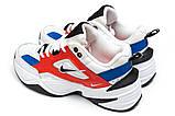 Мужские кроссовки в стиле  найк M2K Tekno white & red & Blue, фото 4