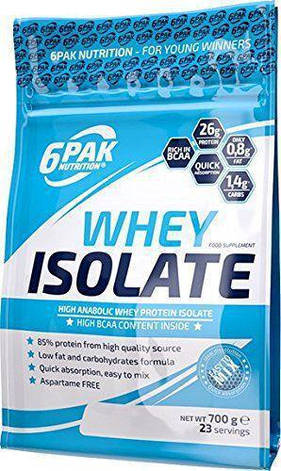 Протеин изолят  Whey Isolate 6PAK Nutrition 700 g, фото 2
