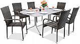 Набір меблів з штучного ротангу FIESTA / AVENUE 6 крісел + 1 стіл, фото 7
