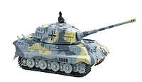 Микро танк на радиоуправлении  King Tiger в масштабе 1:72 (серый), фото 1