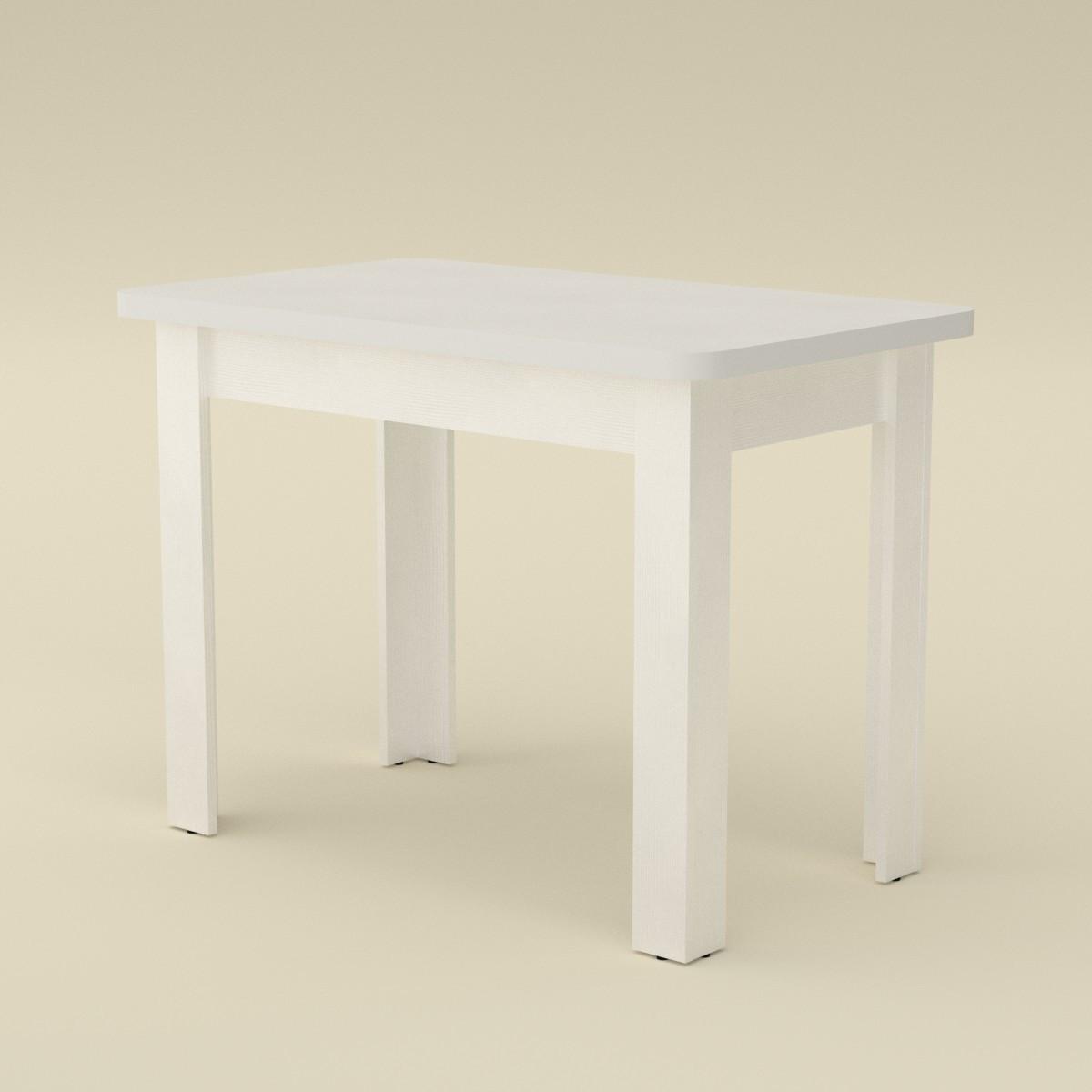 Стол кухонный КС-6 нимфея альба (белый) Компанит (100х60х74 см)