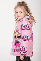 """Куртка для девочек весна-осень с принтом """"LOL"""" 116-122-128 роста"""