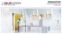 Декоративная иней пленка с изображением небоскребов Solar Screen Manhattan 1.52 метра