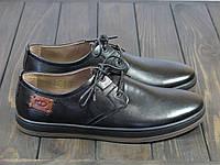 Черные мужские кожаные туфли, фото 1