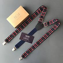 Підтяжки для штанів I&M Craft шотландська клітка (030126)