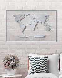 """Скретч карта світу """"Travel Map World AIR"""" в тубусі"""