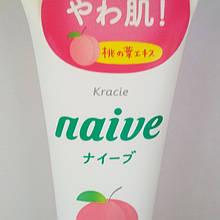 Пенка для умывания с экстрактом персика Kracie Naive Peach leaf cleansing foam, 130 г