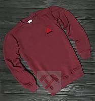 Мужской спортивный бордовый свитшот, кофта, лонгслив, реглан Reebok, Реплика