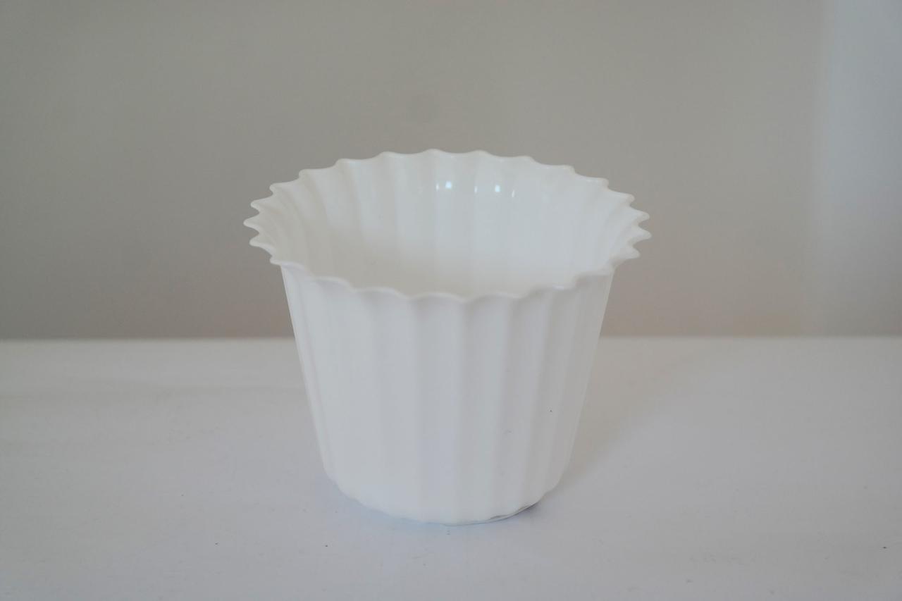 Горшок для квітів Астра 17 з підставкою білий, ММ