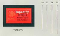 Tapestry 28(25шт) Набор гобеленовых игл для вышивания Royal (Япония)