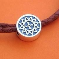 Серебряные бусины с эзотерической символикой
