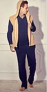 Мужской домашний костюм с махровой жилеткой р.50-54, фото 3