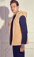 Мужской домашний костюм с махровой жилеткой р.50-54, фото 2