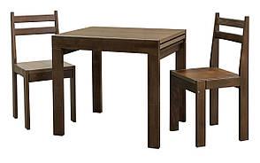 """Кухонний комплект зі стільцями """"Твіст"""" (горіх\ ваніль)"""