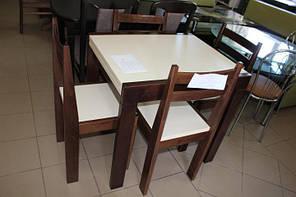 """Кухня набор со стульями """"Twist"""" (Walnut \ ваниль)"""