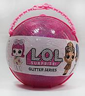 Набор LOL Surprise ЛОЛ серии GLITTERS в жемчужном шаре BB62, реплика, жемчужно-розовый, фото 1