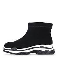 Спортивные женские черные ботинки на стильной литой подошве Prima D`Arte 308351650cec0
