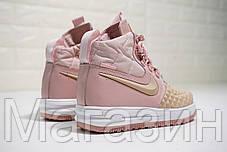 Женские кроссовки Nike Lunar Force 1 Duckboot '17 Particle Pink Найк Лунар Форс 1 Дакбут в стиле розовые, фото 3