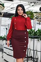 Костюм юбка с блузкой  батал ак 0235  гл, фото 1