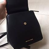Рюкзак, портфель мини от Майкл Корс натуральная кожа, цвет черный с золотом, фото 2