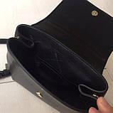 Рюкзак, портфель мини от Майкл Корс натуральная кожа, цвет черный с золотом, фото 3