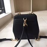 Рюкзак, портфель мини от Майкл Корс натуральная кожа, цвет черный с золотом, фото 6