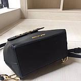 Рюкзак, портфель мини от Майкл Корс натуральная кожа, цвет черный с золотом, фото 7
